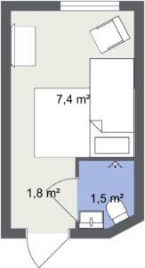 Standardrum 2D Floor Plan FullSize